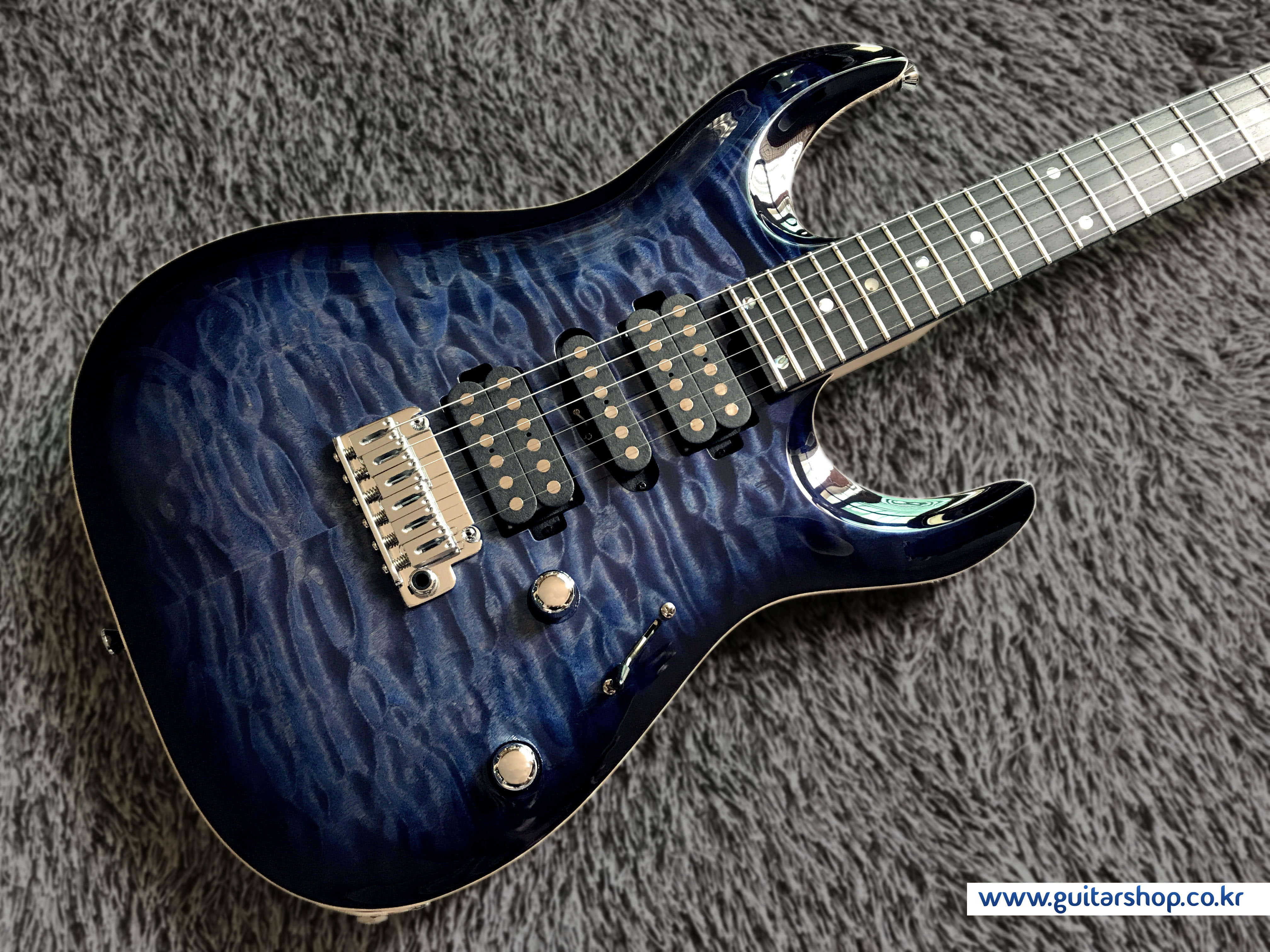 T's DST-24,Carved GUITAR (Whale Blue Burst)